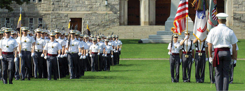 Cadets march at West Point