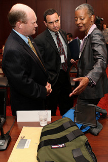 The caucus hosted a briefing on bulletproof vests and body armor in the Capitol in May 2012.