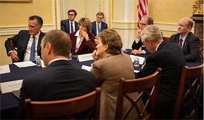 Caucus meeting photo