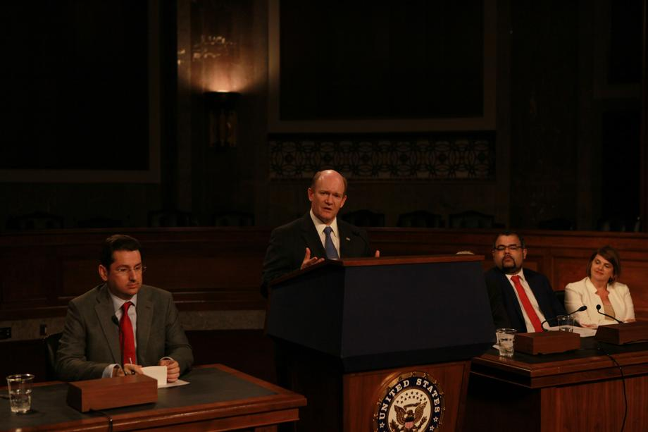 2018-07-26 Sen. Coons speaking at a Ministerial to Advance Religious Freedom event